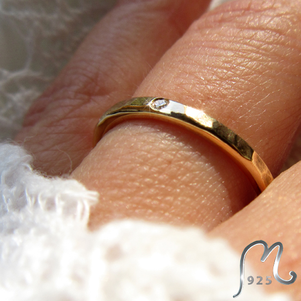 Diamond ring in 18 k. gold.