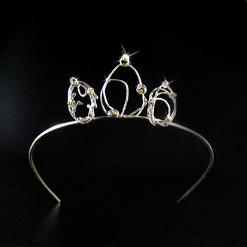 One of a kind. Tiara in silver & 18 c. gold..