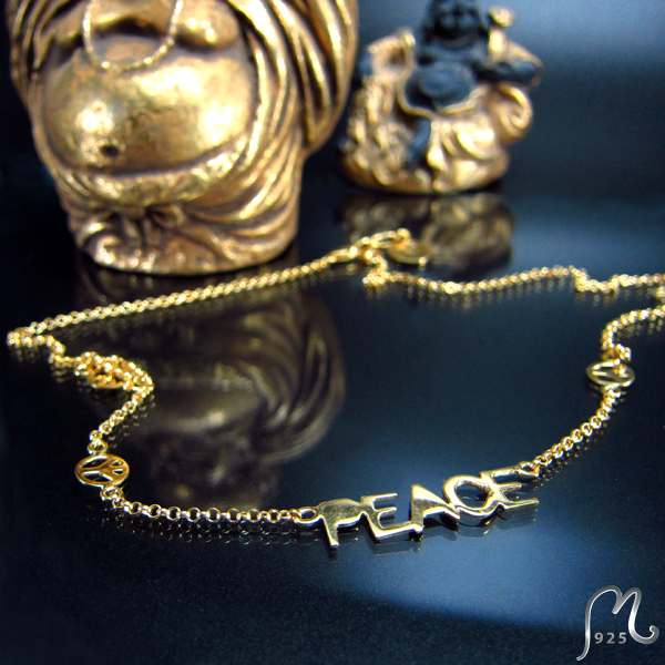 Halsband. Imagine, finally peace... NYHET!