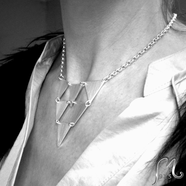 Silver necklace with triangles. SOLD!