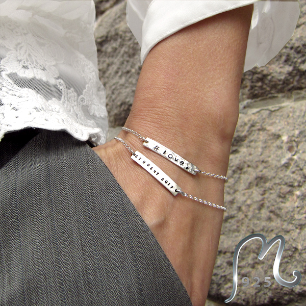 Delicate, personalized silver bracelet. NEW!