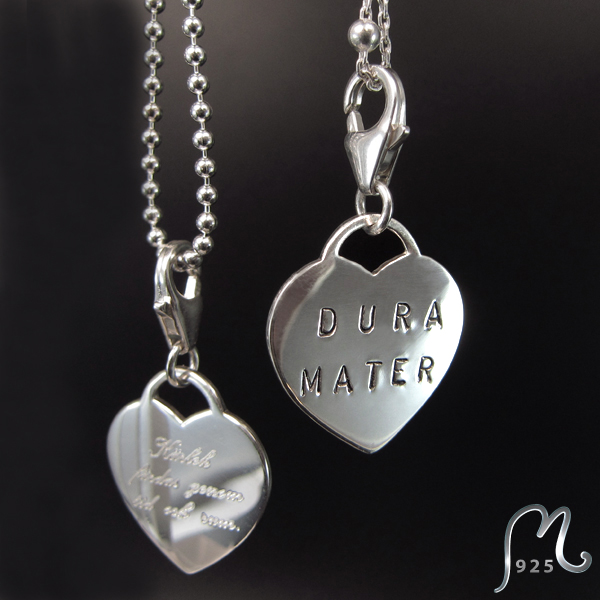Jewelry for Mom. Silver heart necklace. Engraving included