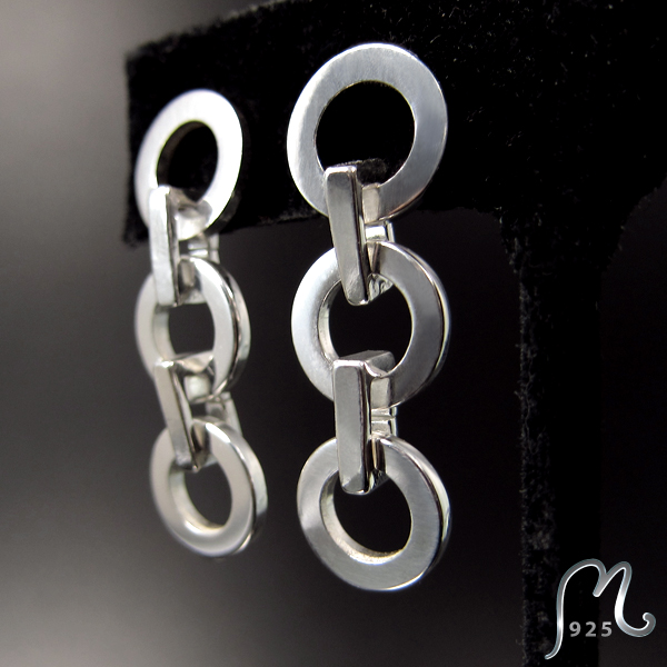 Forza. Long silver earrings. NEW!