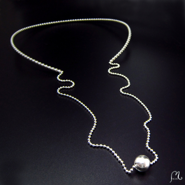 Long silver necklace. SOLD!