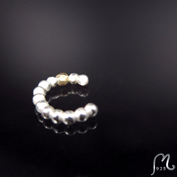 Nosering in silver & gold. NEW!
