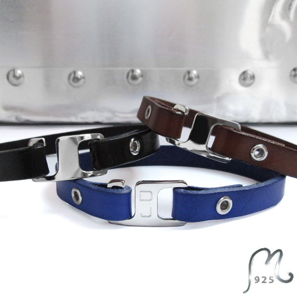 Gifts for grads. Personalized leather bracelet.