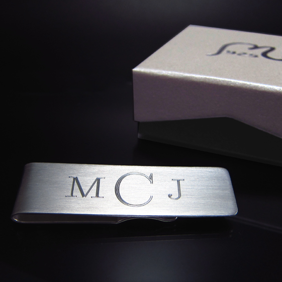 Money clip in silver. Personalized. SOLD OUT!
