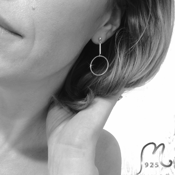 Champagne. Silver earrings. NEW!
