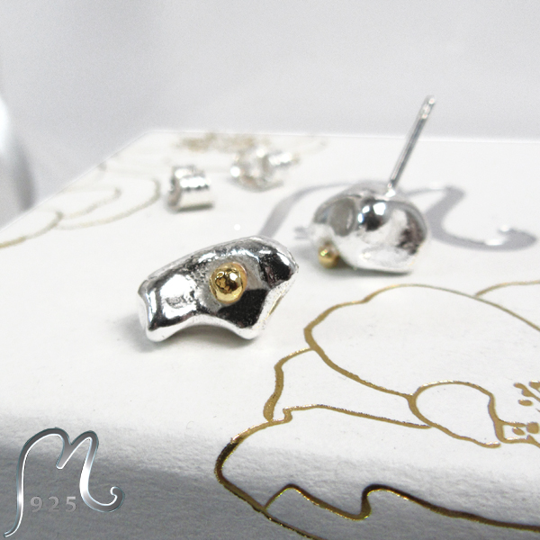 Map studs in silver. Any motife.